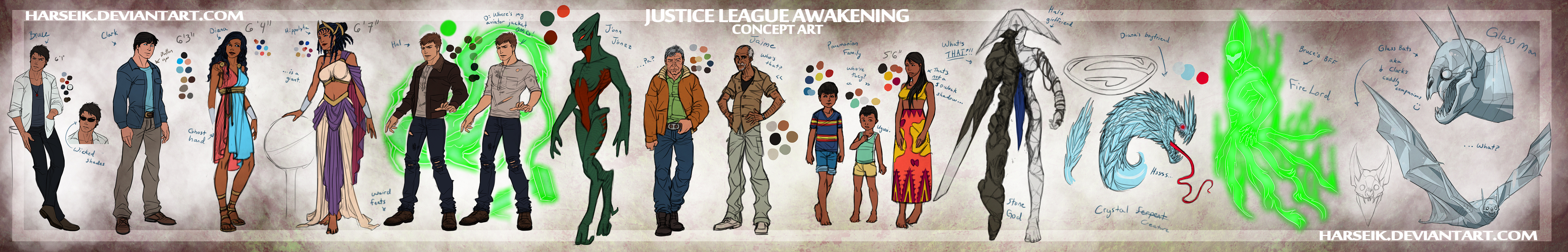 Justice Awakening Chapter One Art by Harseik