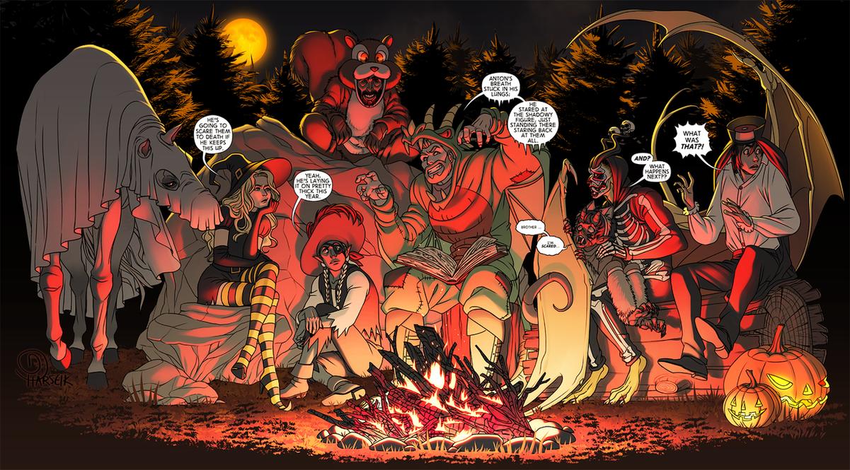 Commish - Halloween Adventure Party by Harseik on DeviantArt