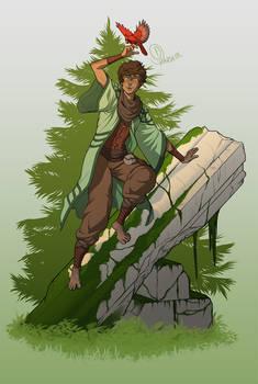 DnD - Malon Scales the Ruins