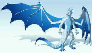 Zaivren the Frost Dragon - Commission