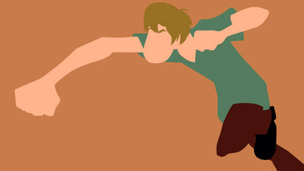 Shaggy Punching Minimalist Wallpaper by MinimalistJunky