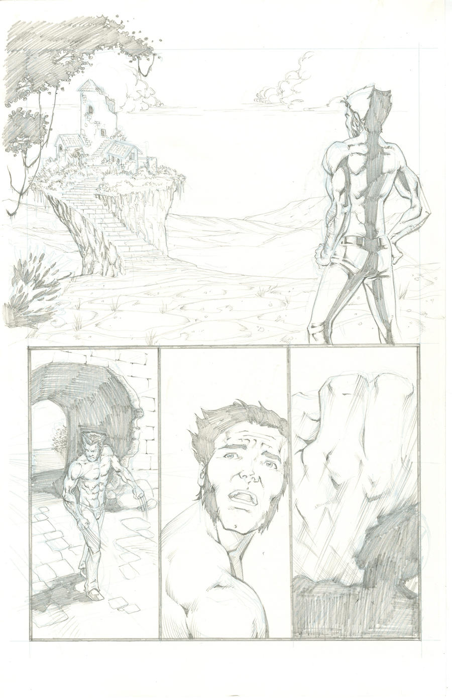 Wolverine vs Hulk Sample Page1 by thecreatorhd