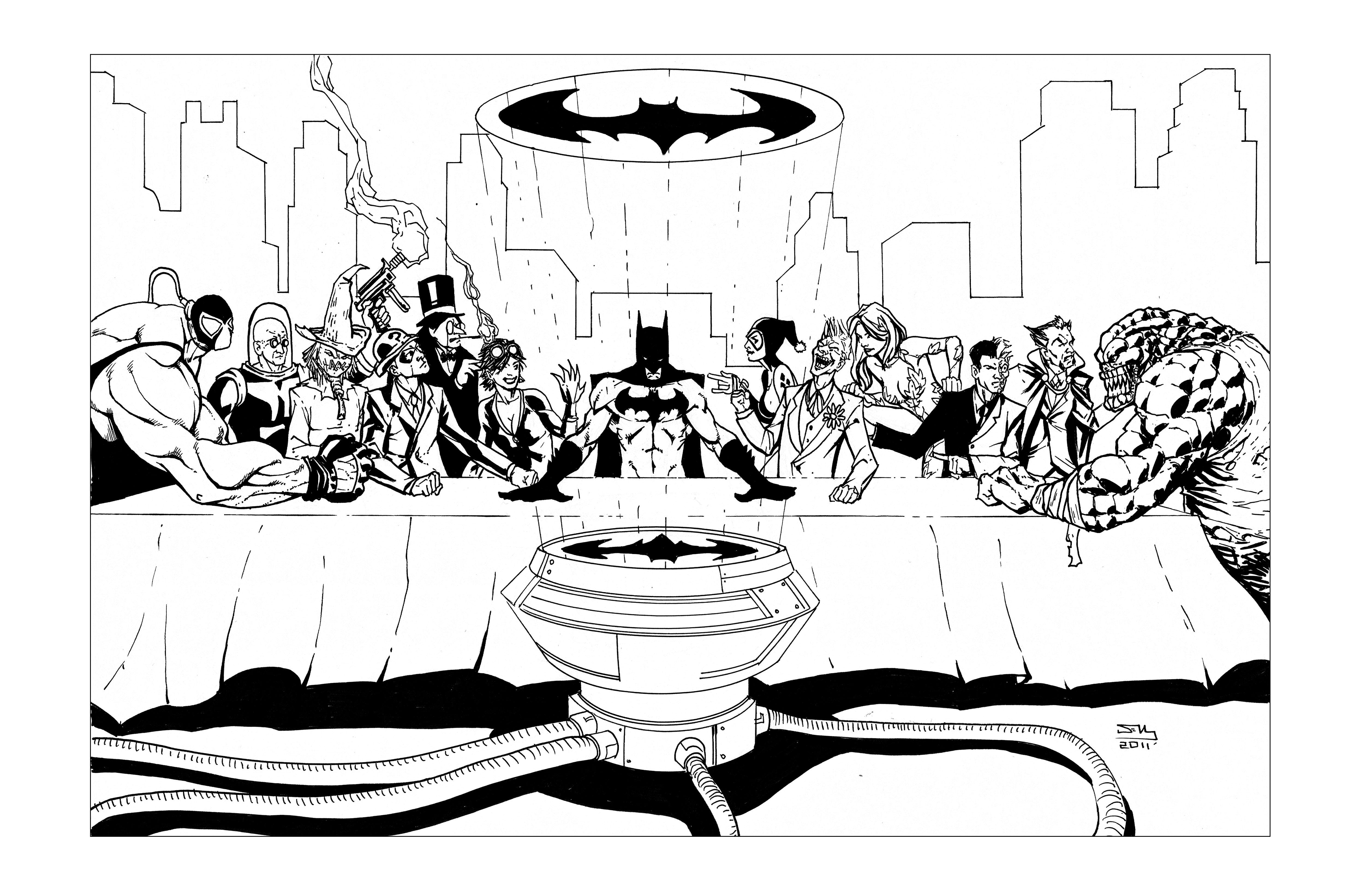 coloring pages batman villains - photo#9
