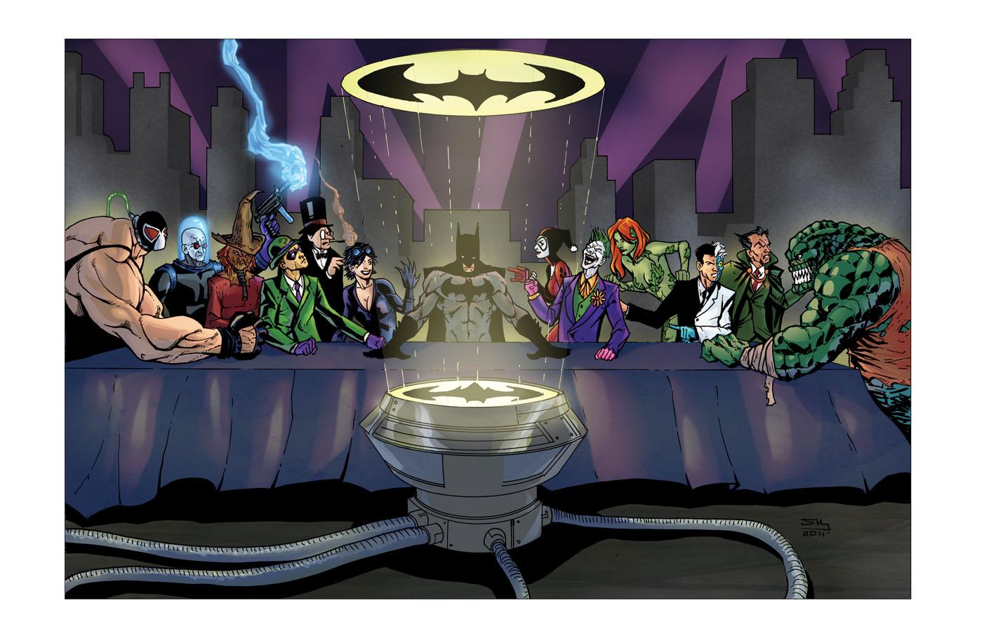 Last Supper of Gotham by thecreatorhd