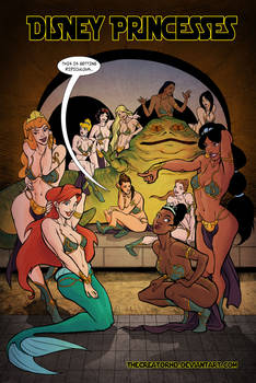 Disney Princesses in Jabba's Palace