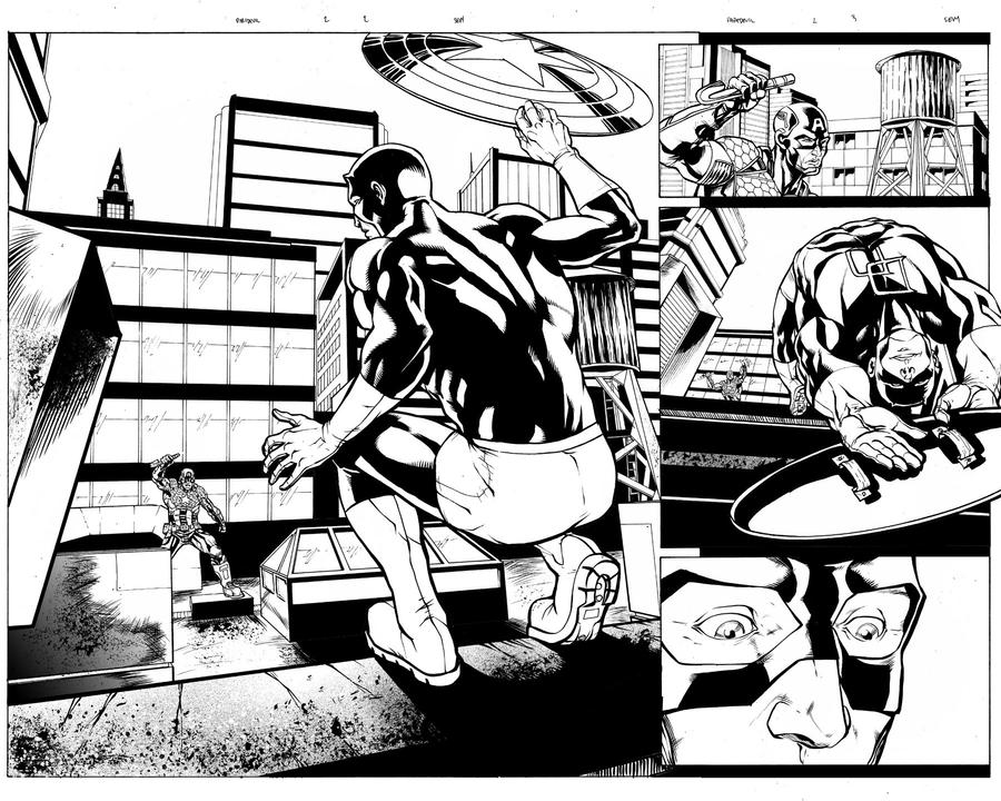 Daredevil 2 Pages 2-3 by thecreatorhd