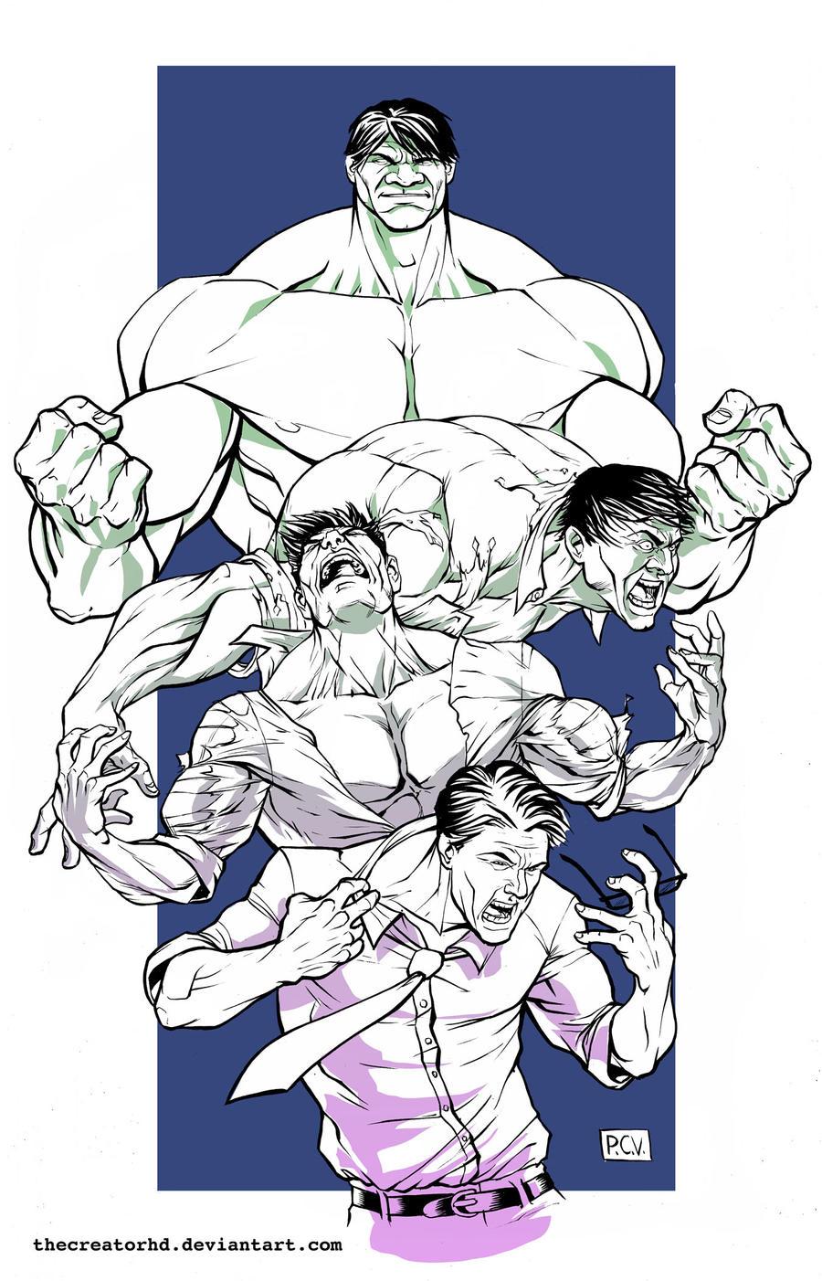 Hulk Transformation Color v2 by thecreatorhd