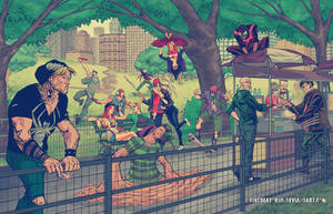 Hipster Spiderman Family by thecreatorhd