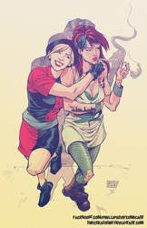Hipster Ivy and Harley by thecreatorhd