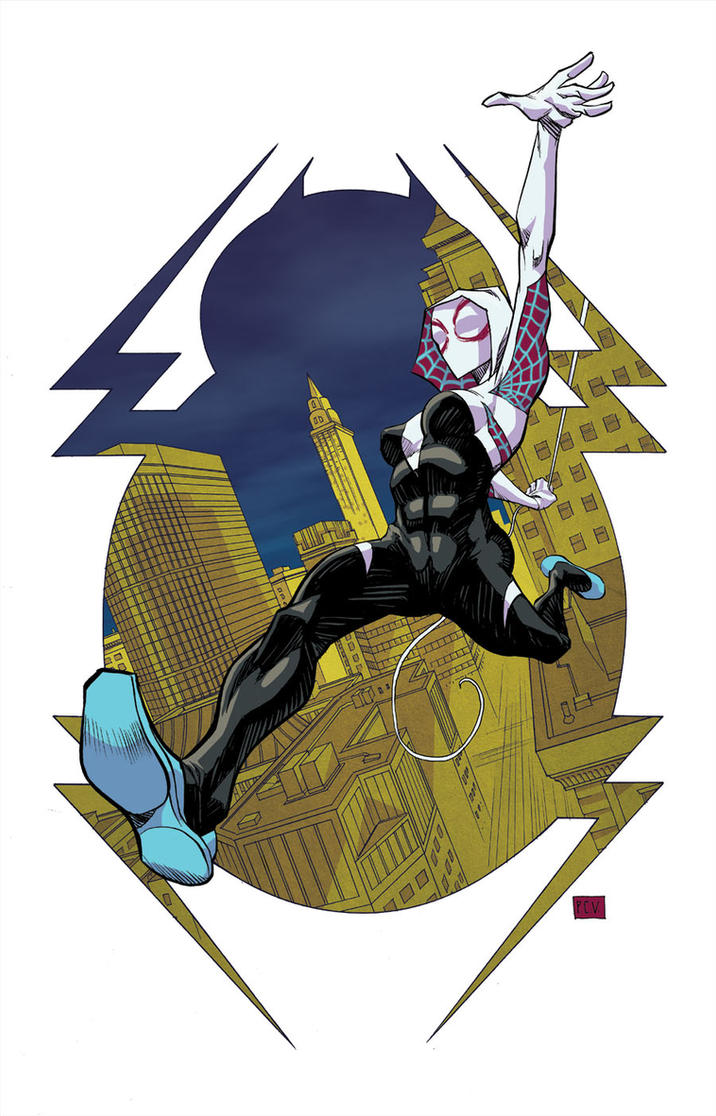 Spider-Gwen Color Final small by thecreatorhd