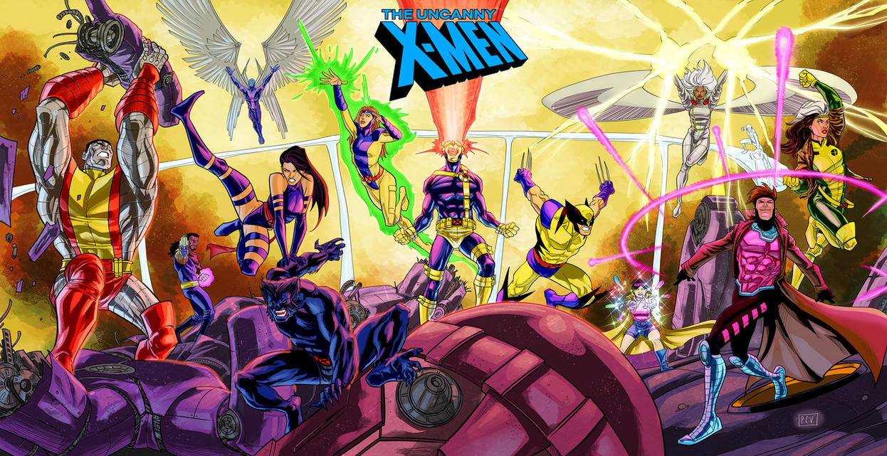 X-Men Gold and Blue Colors by thecreatorhd