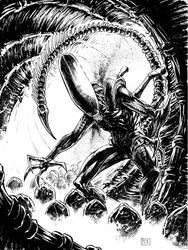 Xenomorph Commission by thecreatorhd
