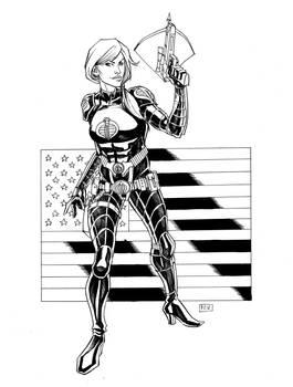 Scarlett as Baroness GI Joe Commission
