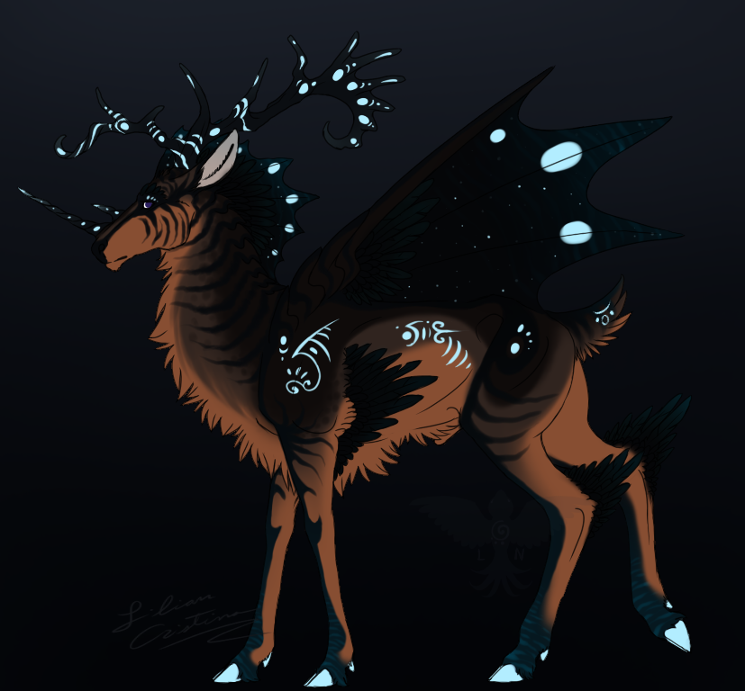 Deer Creature by Night-Anders