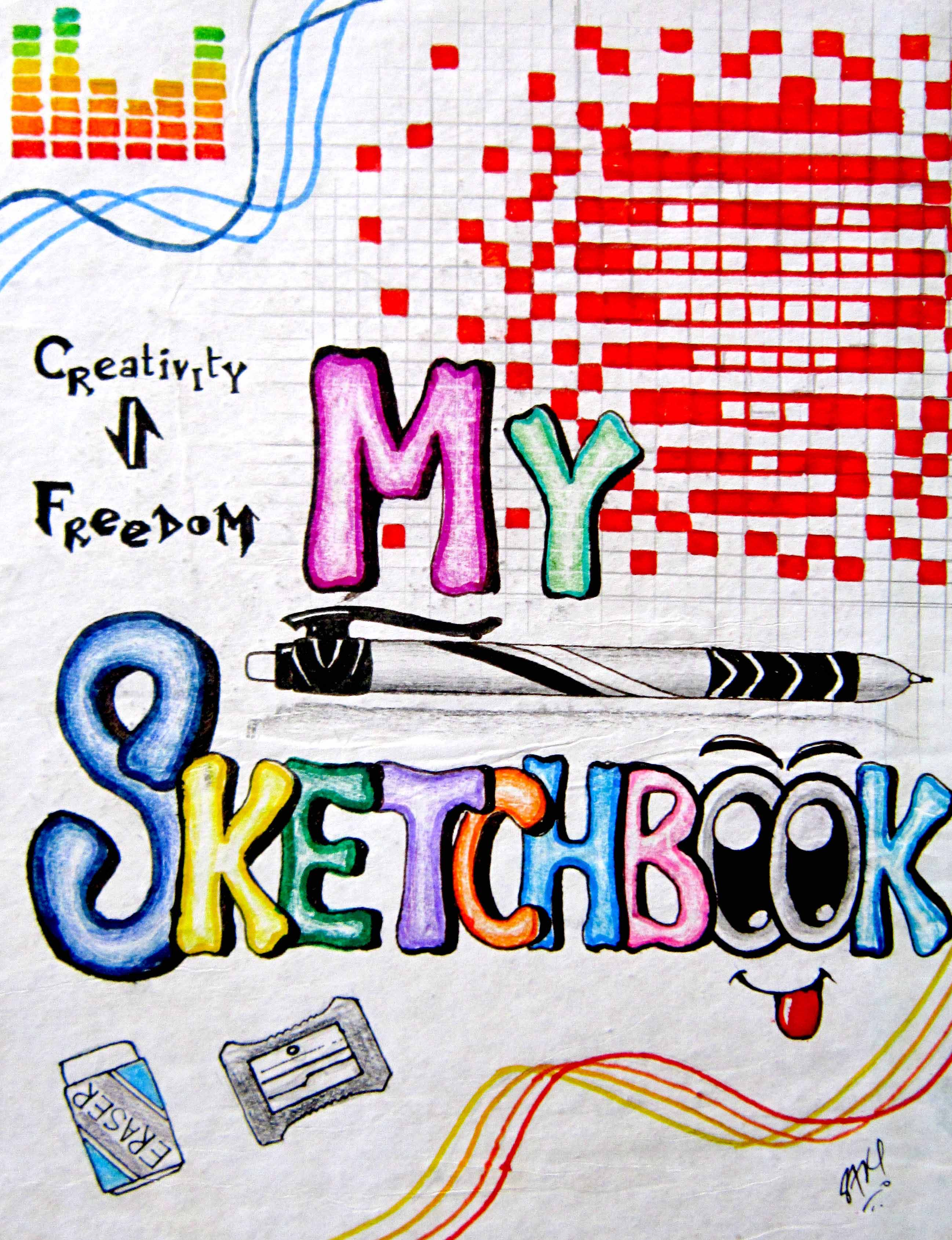 Book Cover Design Sketch : The cover of my sketchbook by s a k i on deviantart