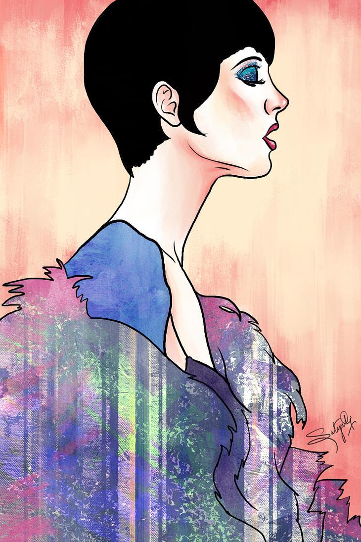 La Femme en rose by S-A--K-I