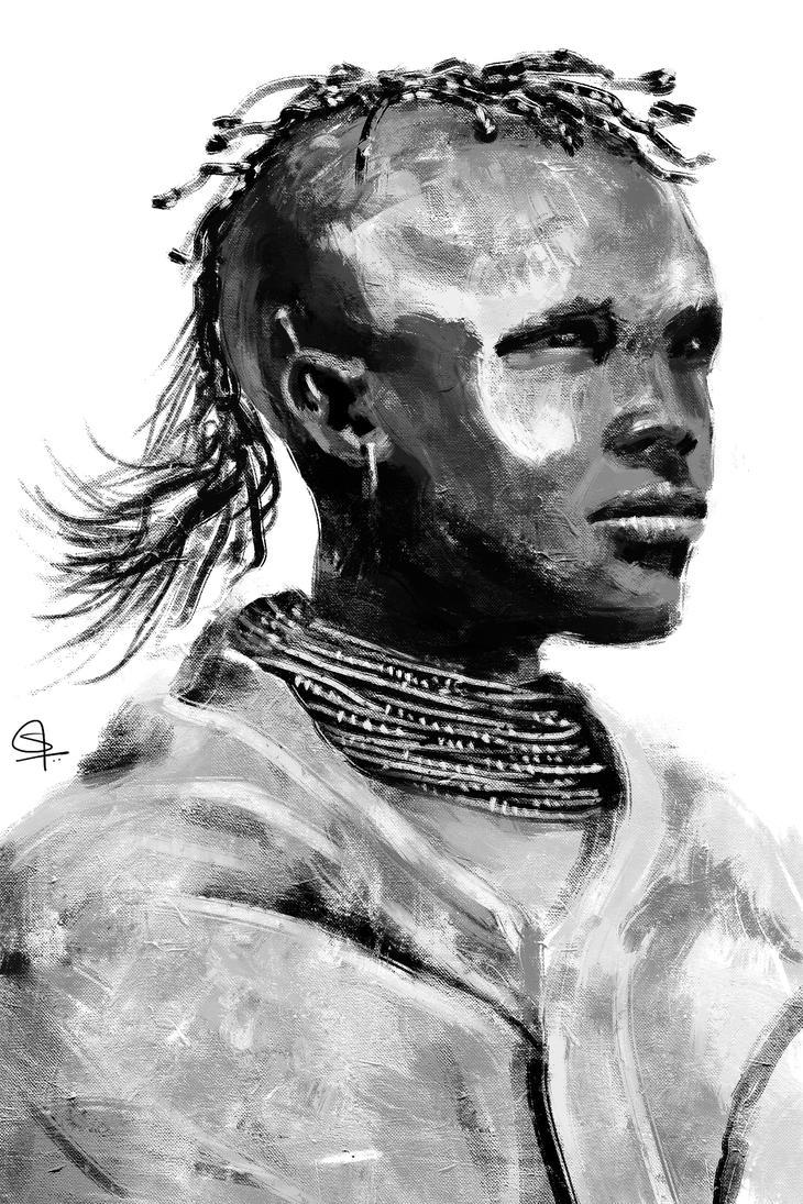 Tribal Boy by S-A--K-I