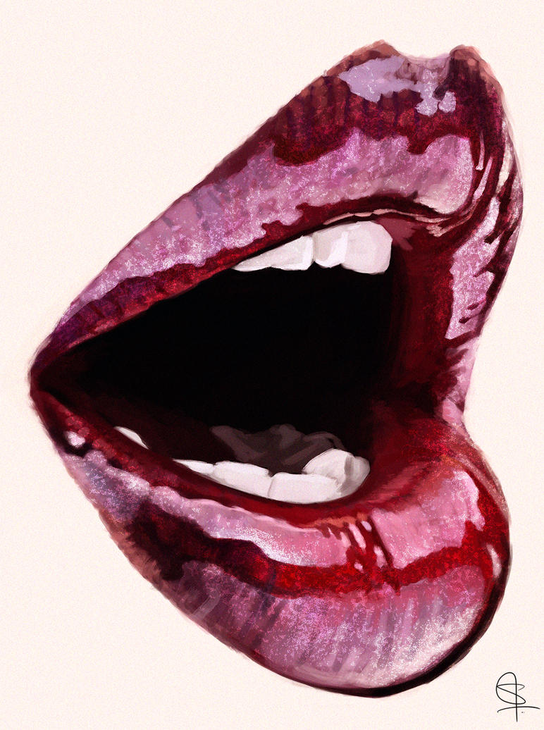 Lips-study by S-A--K-I