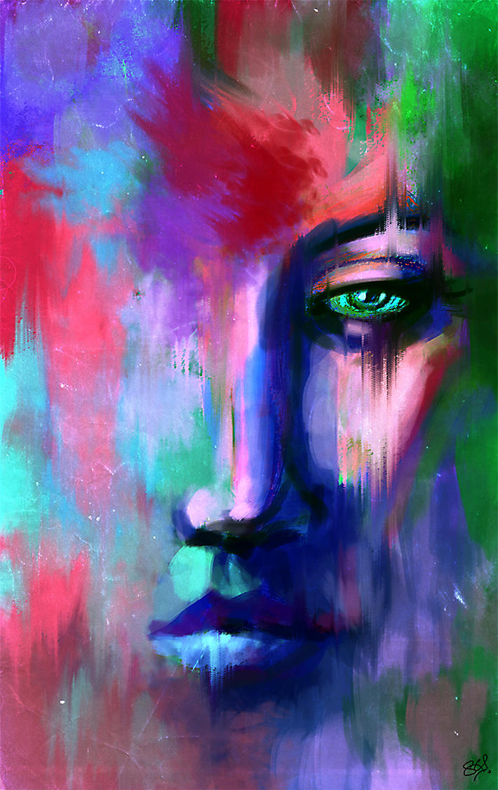 Abstract Portrait by S-A--K-I