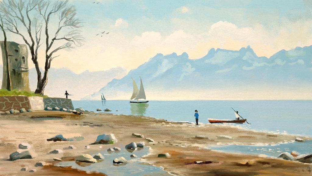 Landscape Master Study by S-A--K-I