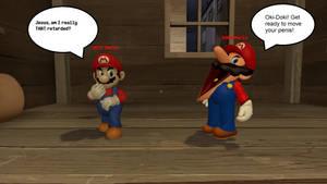 ModInTheFamily Mario vs SMG4 Mario (Gmod)