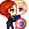 BlackWidow x CaptainAmerica by Nina-Mishima