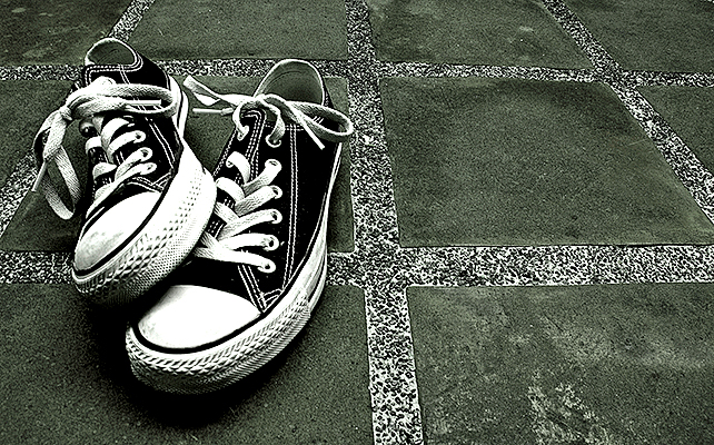 Black Chuck Taylors by rakstar