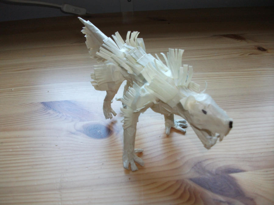 Wolf Made of Tape by alockwood1