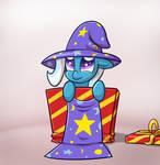 Trixie in a box.