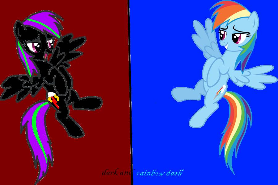 random pictures of random pony's c: Dark_and_rainbow_dash_by_dark_the_hedgewolf-d66vu3f