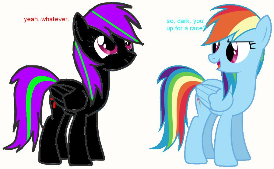random pictures of random pony's c: Dashie_talking_to_dark__by_dark_the_hedgewolf-d66vv8r