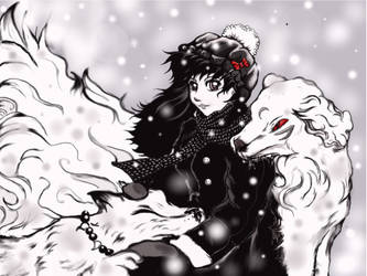 kagome and doggys by skullcandy3
