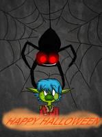 =Collab= Atomic Betty: Happy Halloween! by AquaDragon76