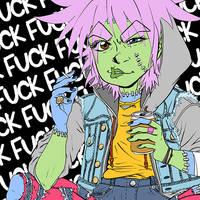 ZUSHIE: FuckFuckFuck Sticker