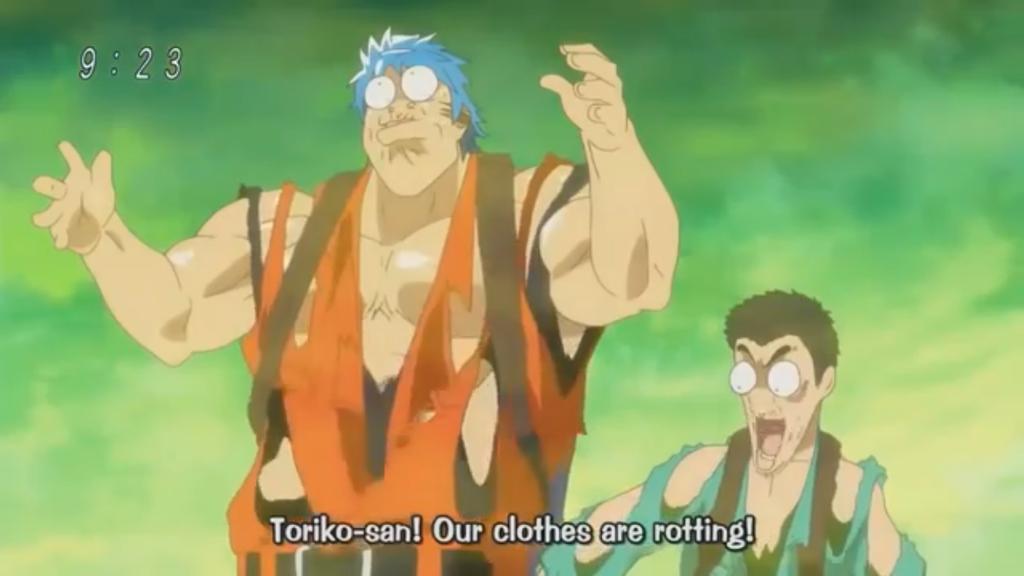 Toriko and Komatsu clothes rotting 4 by Artmaster6778757