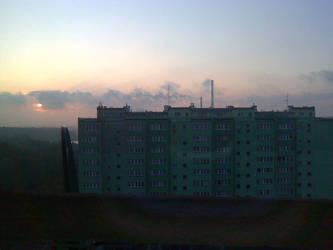 Shy sunrise by Chakat-Northspring