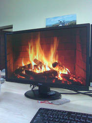 What a developer do during a cold day... by Chakat-Northspring