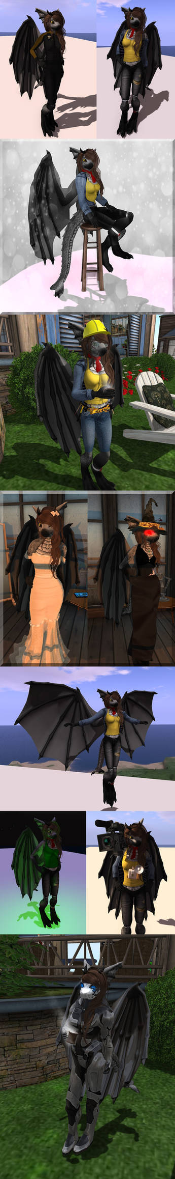 Second Life - Several colours of Pantera