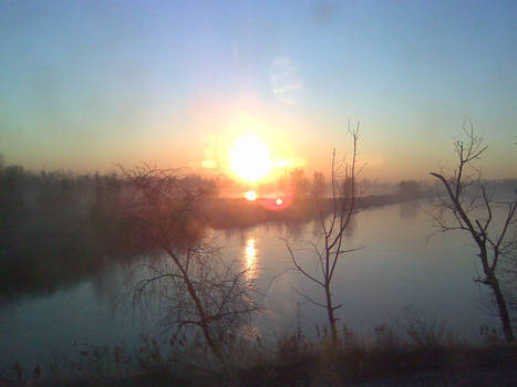 Warm winter sunrise