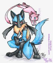 Mew y Lucario by Shivita