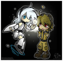 Chibi Eve and Wall-E