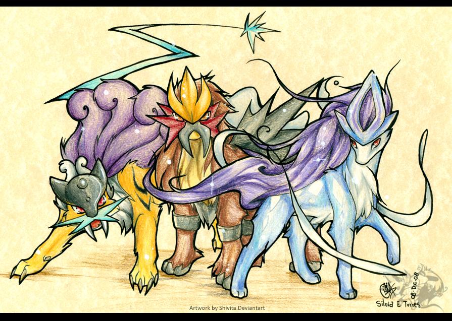 pokemon legendary dogs - 895×637