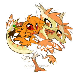 Chibi Orange and Siegfried by Shivita