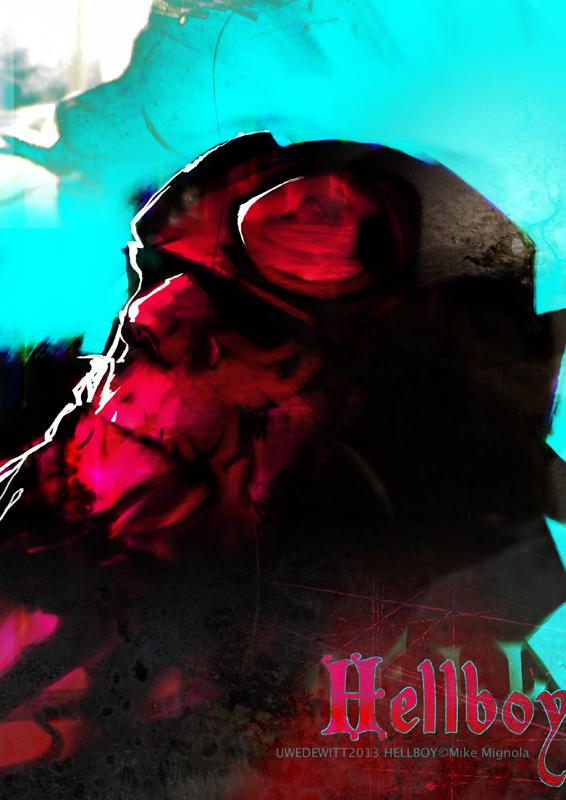 Hellboy Head III by uwedewitt