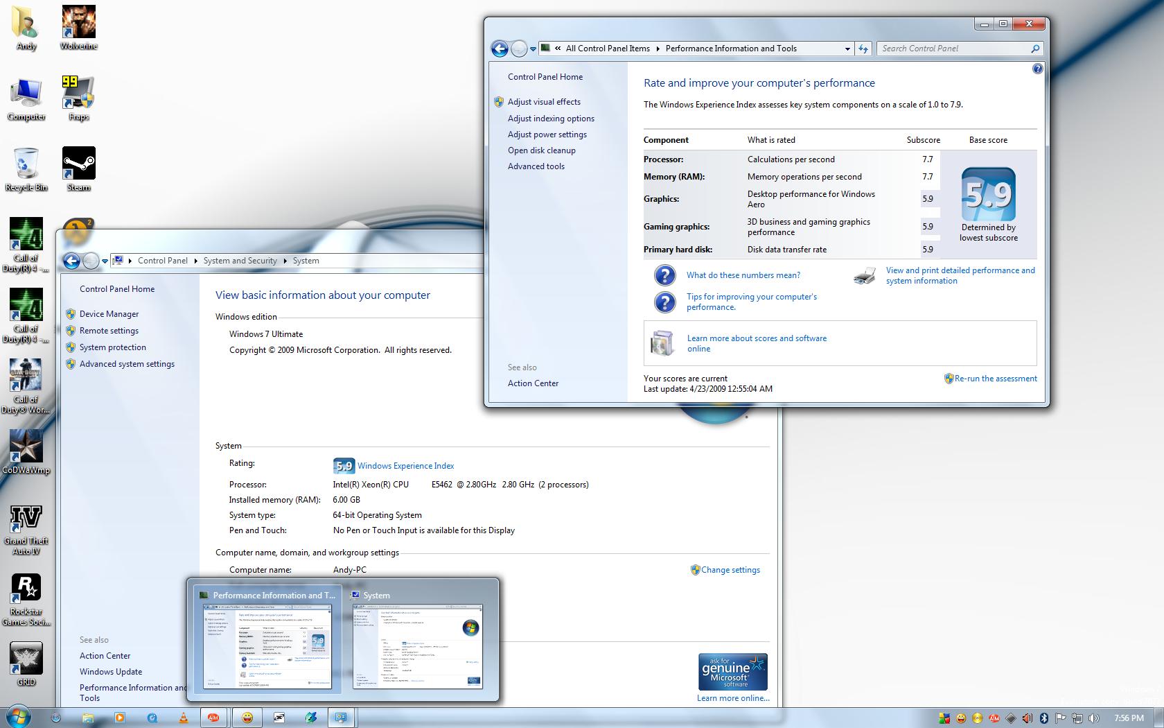 My Windows 7 7077 Desktop by andys184