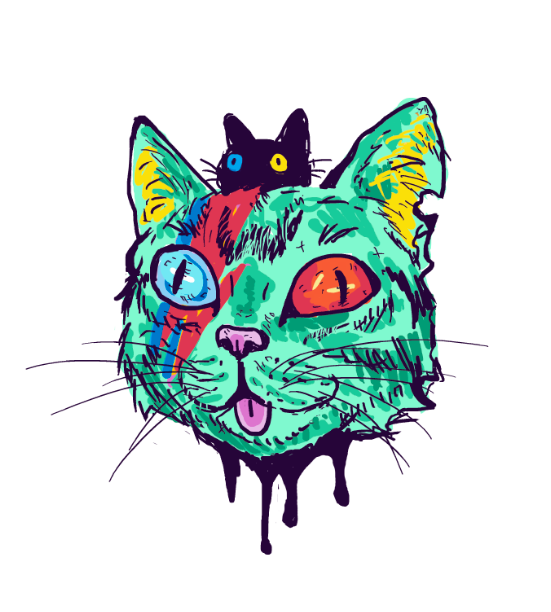 Cat Sticker by celinagr