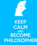 Keep Calm And Become Philosopher Blue
