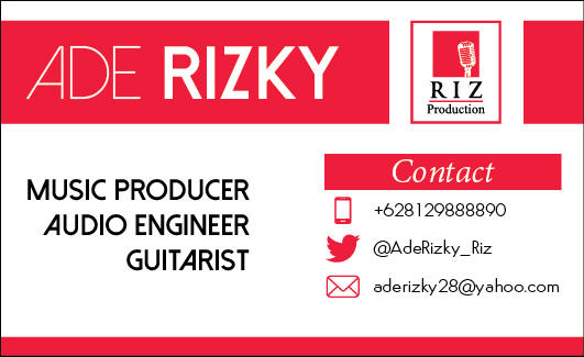Bussines card - Ade Rizky - Riz Production