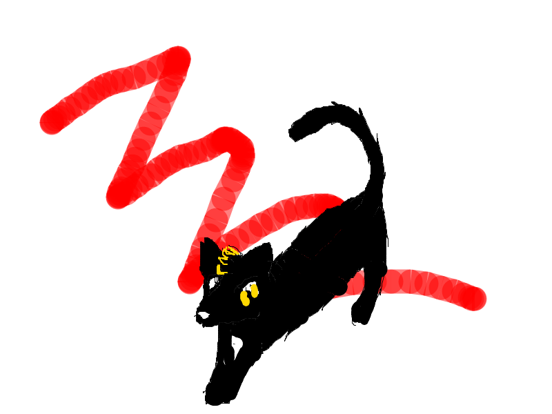 Zeath in cat form by Fargosis