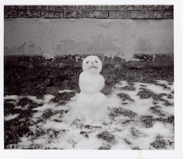 Winter With Snowman stock image. Image of nature, season ...  |Sad Melting Snowman